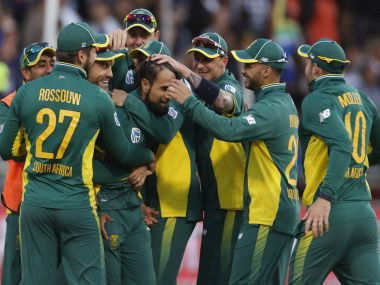 South Africa players celebrate. AP