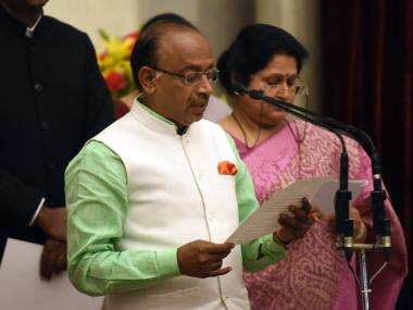 Sports minister Vijay Goel was the chief guest at the event. AFP