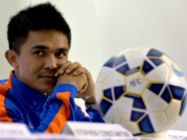 File image of Sunil Chhetri. AFP
