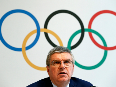 File photo of IOC president Thomas Bach. Reuters