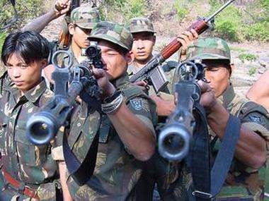 Ulfa militants in a file photo. PTI