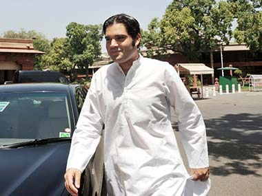 File photo of Varun Gandhi. AFP