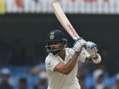 Virat Kohli brought up his 13th Test hundred on Day 1 of the final Test. AP