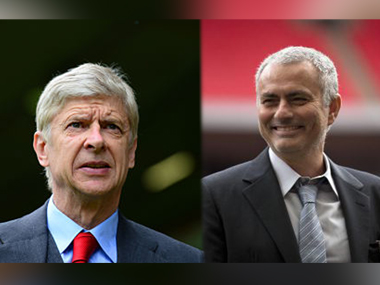 File photo of Arsene Wenger and Jose Mourinho. Agencies