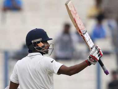 Wriddhiman Saha scored fifties in both innings in India's series clinching victory at Eden Gardens. AP