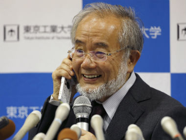 File photo of Japanese scientist Yoshinori Ohsumi. AP