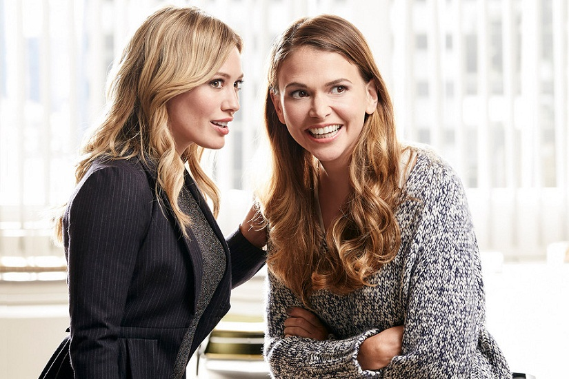 Hilary Duff and Sutton Foster in a still from 'Younger'