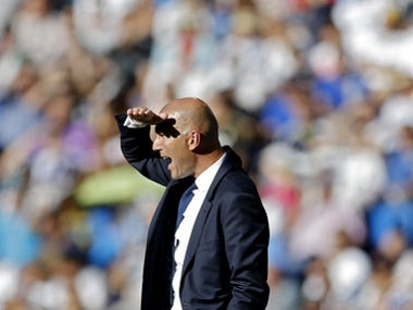 Real Madrid coach Zinedine Zidane. AP