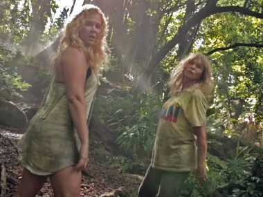 Amy Schumer with Goldie Hawn in the 'Formation' parody video