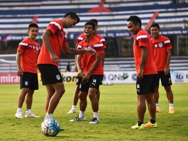 Bengaluru FC players practise ahead of their big game. Image Credit: Official Facebook page