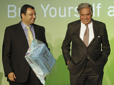 Cyrus Mistry and Ratan Tata in a file photo. Reuters