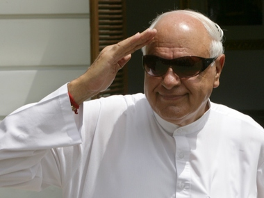 Former chief minister of Jammu and Kashmir Farooq Abdullah. Reuters