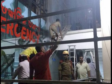 Bhubaneswar: Rescue work underway at the Institute of Medical Sciences and SUM Hospital in Bhubaneshwar. PTI