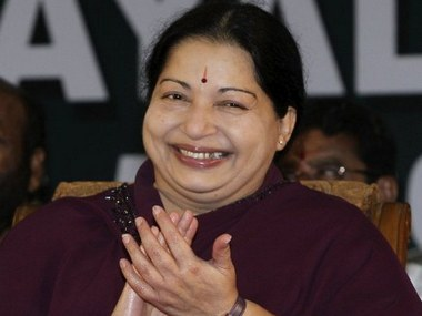 File photo of Jayalalithaa. AFP