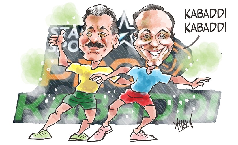 Anand Mahindra and Charu Sharma's Mashal Sports brought kabaddi back into the spotlight with the Pro Kabaddi League. Illustration © Austin Coutinho