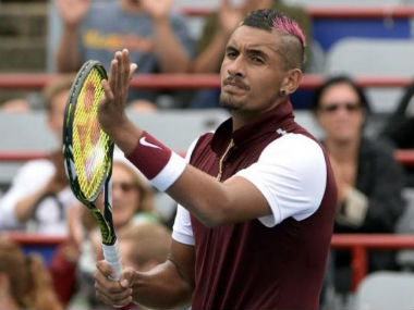 The temperamental Kyrgios was recently banned from the tour for two months. Reuters
