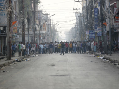 Madhesis protesting against Nepal's government. Reuters