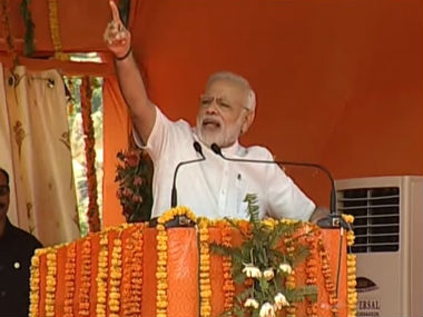 PM Modi addressing the rally. Twitter @BJP4India