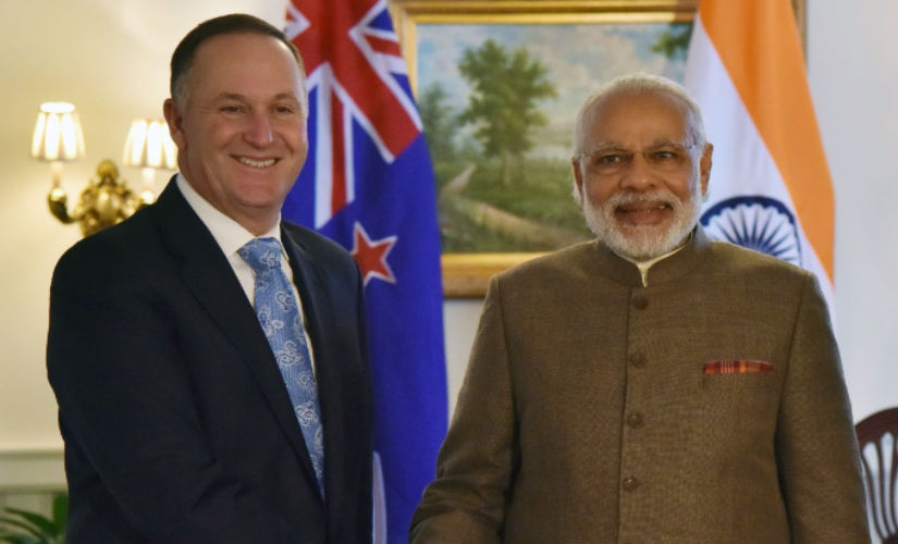 PM Narendra Modi with PM John Key. Image: narendramodi.in