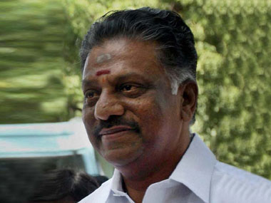 File photo of O Panneerselvam. PTI