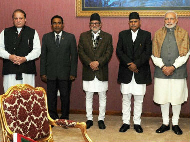 File image of leaders of Saarc countries. PTI