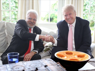 Shalabh Kumar and The Donald/ Pic from public Facebook post