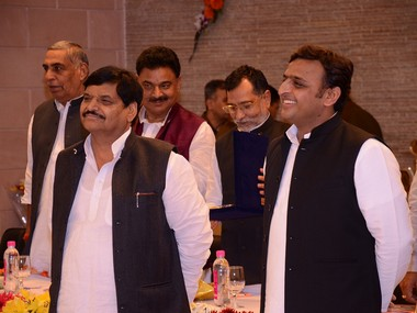 A file photo of Shivpal Yadav and Akhilesh Yadav. Photo credit: shivpalyadav.com