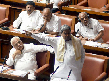 Karnataka CM Siddaramaiah during the special session. PTI