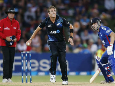 Tim Southee (centre) is New Zealand's most successful bowler in ODIs. Reuters