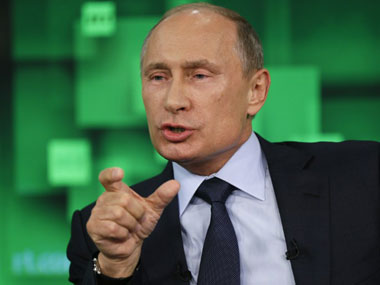 File photo of Vladmiri Putin. AFP