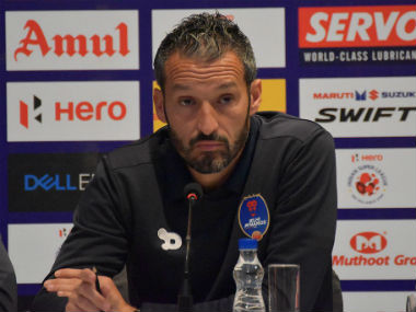 File photo of Delhi Dynamos coach Gianluca Zambrotta. Image courtesy: Twitter/@DelhiDynamos