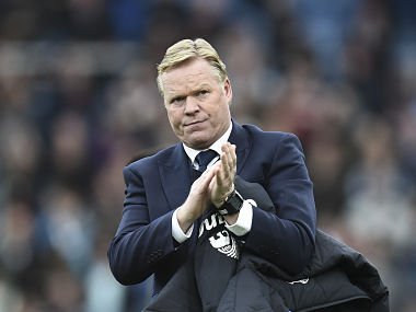 File image of Everton manager Ronald Koeman. AFP