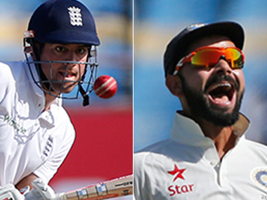 Alastair Cook and Virat Kohli. AP