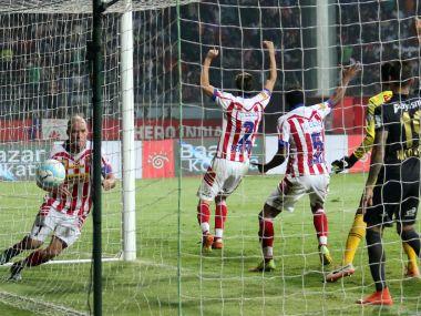 Iain Hume netted a late equaliser for Atletico de Kolkata against NorthEast United. AFP