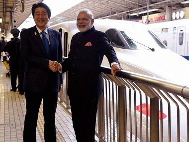 File image of Narendra Modi and Shinzo Abe. PTI