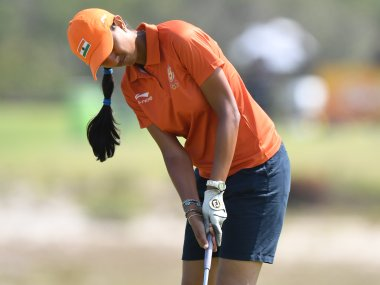 File photo of Aditi Ashok. AFP