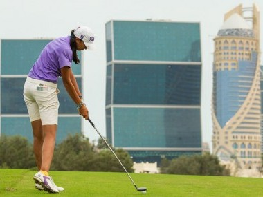 Aditi Ashok of India during the third round of the Qatar Open. Image courtesy: LET website