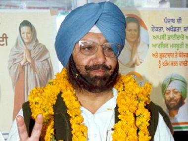 Congress party president in Punjab Captain Amarinder Singh. Reuters