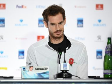 Britain's Andy Murray speaks during a press conference ahead of the ATP World Tour Finals. AFP