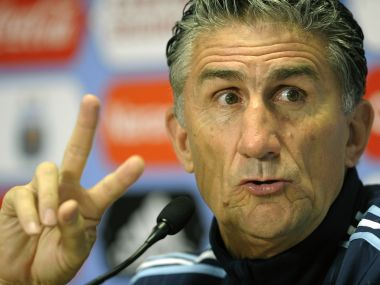 Argentina Football team coach Edgardo Bauza. AFP