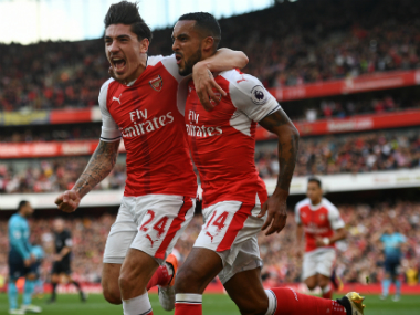 File image of Arsenal's Hector Bellerin (L). AFP