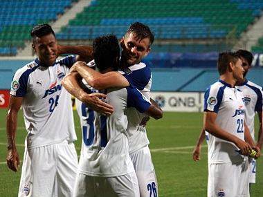File photo of Bengaluru FC team. Image courtesy: Twitter/@BengaluruFC
