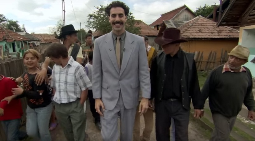 A screengrab from 'Borat'. YouTube