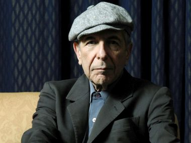 File photo of Leonard Cohen. AP
