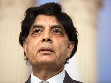 File photo of Chaudhary Nisar Ali Khan. Reuters
