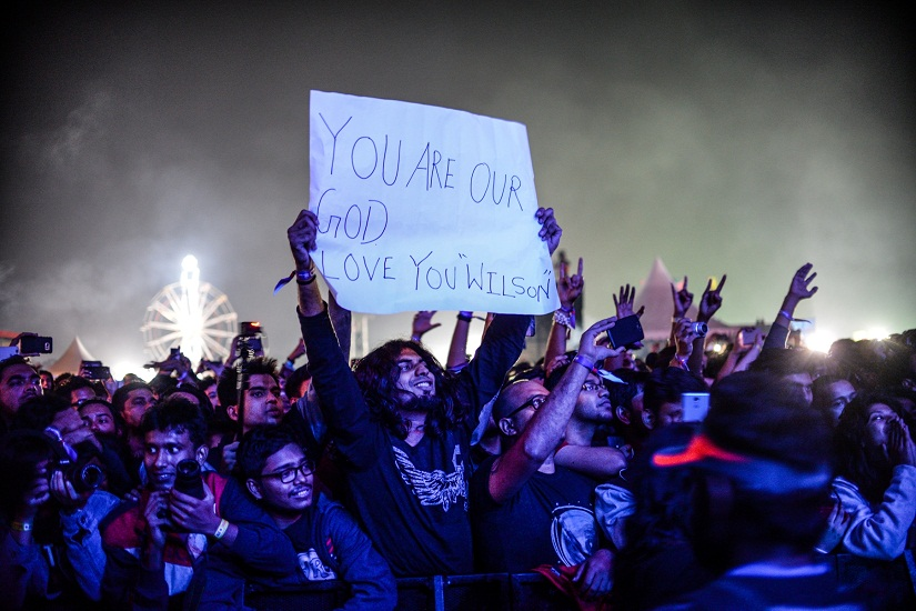 Crowd enjoying Steven Wilson's performance at Bacardi NH7 Weekender, Shillong 2016. Photo courtesy: Madhurjya Saikia