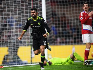 Diego Costa scored the winner as Chelsea beat Middlesbrough 1-0 in the Premier League. Twitter@ChelseaFC