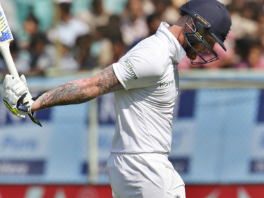 Ben Stokes is upset at being dismissed. AP