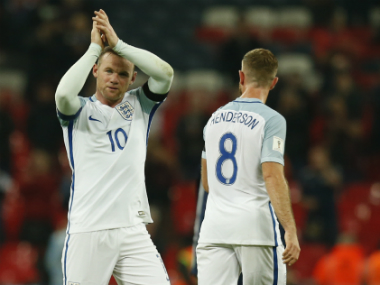 England's captain Wayne Rooney after the win against Scotland. AFP