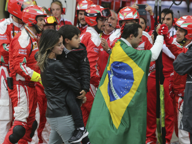 Felipe Massa is congratulated by his former team, Ferrari. AP